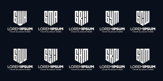 Stel modern letter c logo-ontwerp in