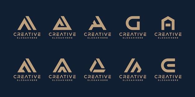 Stel moderne letter een logo-sjabloon in