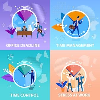 Stel office time management control in. positieve en negatieve aspecten het halen van deadlines in het werkproces