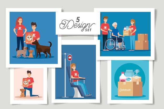 Stel ontwerpen schenking liefdadigheid in