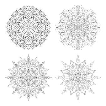 Stel opengewerkte sneeuwvlokken in voor je creativiteit