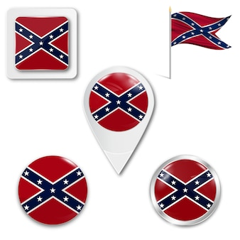 Stel pictogrammen nationale vlag van de federatie