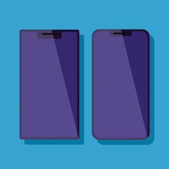 Stel smartphones-apparaten technologie iconen