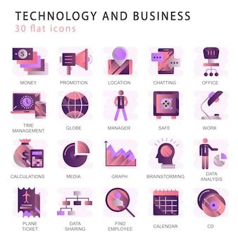 Stel vector iconen met elementen voor mobiele concepten en web-apps