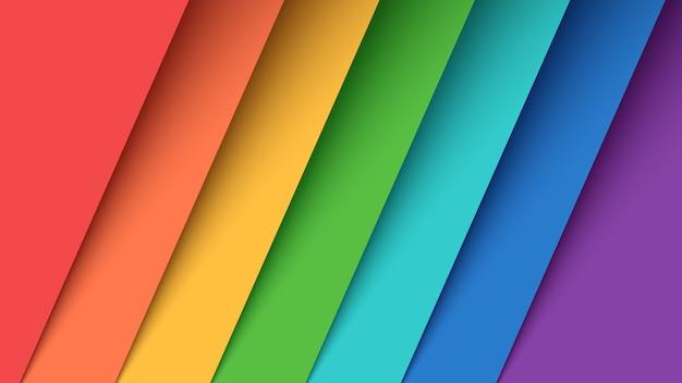 Stel zeven kleuren papier in.