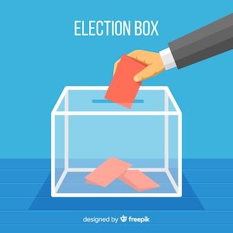 Stem- en verkiezingsconcept met doos