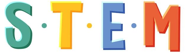Stem-onderwijs logo banner op witte achtergrond