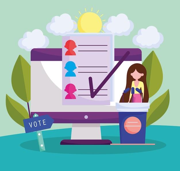 Stem online met computer