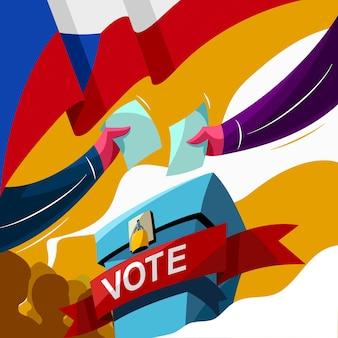Stem op de verkiezingsdag in tsjechië