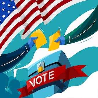 Stem op de verkiezingsdag van de verenigde staten