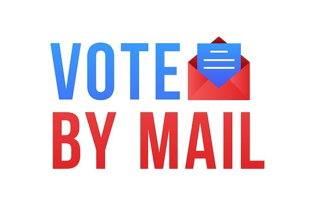 Stem per mail stay safe-concept 2020 amerikaanse presidentsverkiezingen