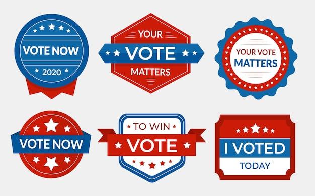 Stembadges en stickers