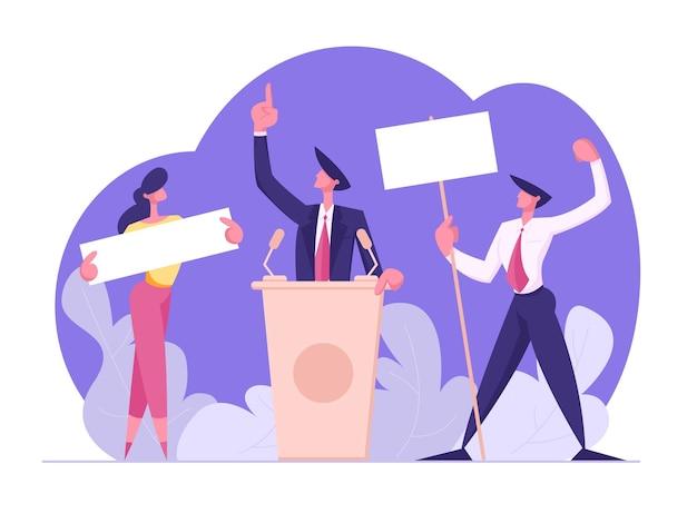 Stemmen en verkiezing concept illustratie