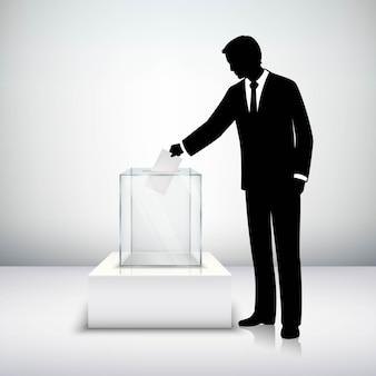Stemmen verkiezingsconcept