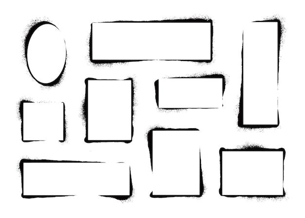 Stencil verfframe met spuiteffect