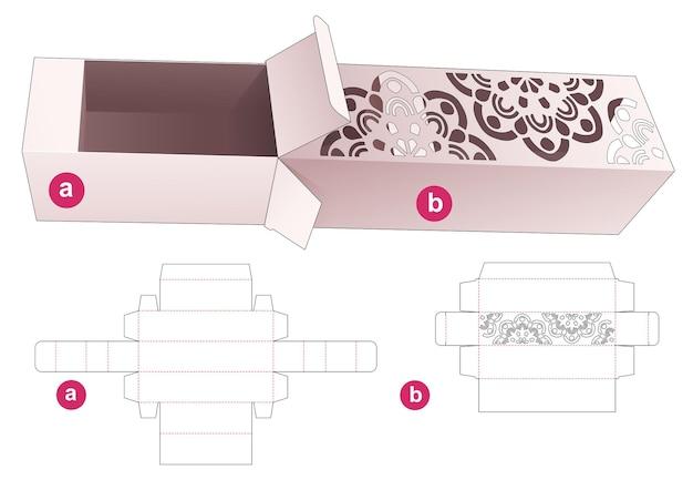 Stenciled mandala box en inlegbak gestanst sjabloon