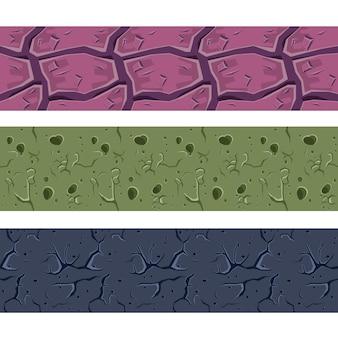 Stenen muur of grond kleurrijke naadloze textuur collectie
