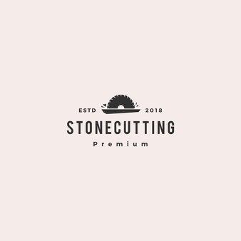 Stenen snijden en aanrecht logo vector pictogram