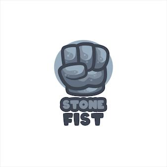 Stenen vis logo sjabloon