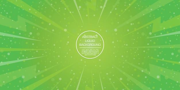 Ster en bokeh abstracte groene gadient dynamische vormenachtergrond