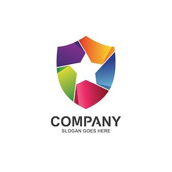 Ster en schild logo