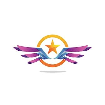Ster en vleugels logo