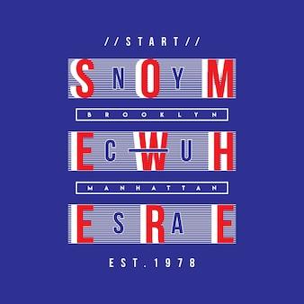 Ster ergens grafische typografie
