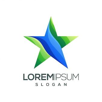 Ster kleurrijk verloop logo