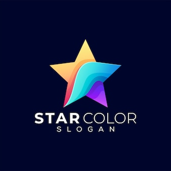 Ster kleurverloop logo
