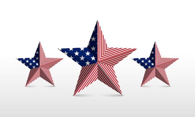 Ster met elementen van de nationale vlag. vector op geïsoleerde achtergrond.