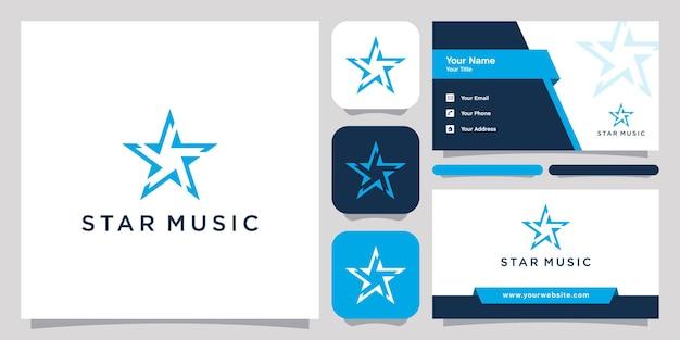 Ster muziek logo pictogram symbool sjabloon logo en visitekaartje