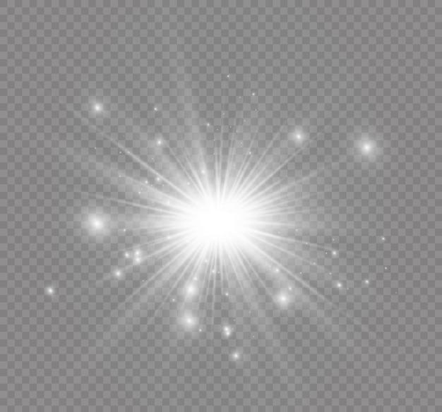 Ster op een transparante achtergrond, lichteffect
