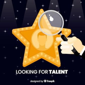 Ster op zoek talent achtergrond