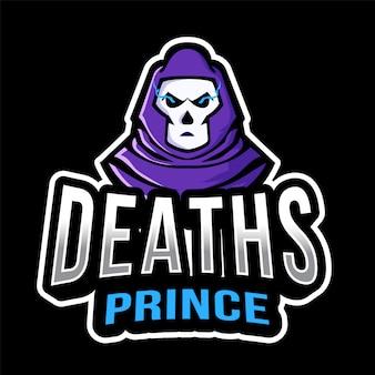 Sterfgevallen prins esport logo sjabloon