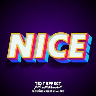 Sterk gewaagd en kleurrijk 3d-lettertype-effect