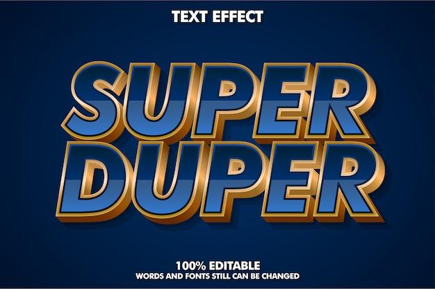 Sterk gewaagd luxe lettertype-effect