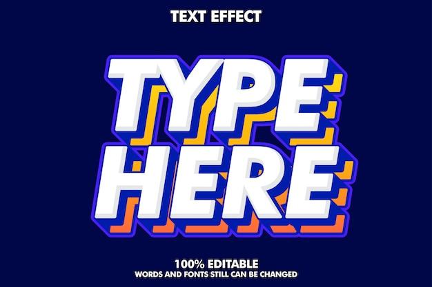 Sterk gewaagd modern lettertype-effect