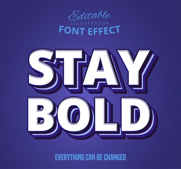 Sterk gewaagd retro pop-art teksteffect