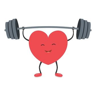 Sterk hart met een barbell