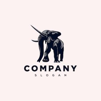 Sterk olifant logo-ontwerp