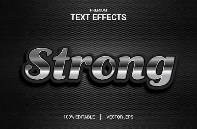 Sterk teksteffect, set elegant abstract sterk teksteffect, bewerkbaar lettertypeeffect met sterke tekststijl