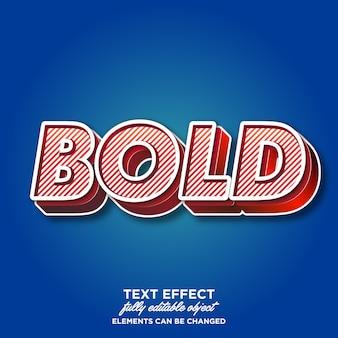 Sterk vet lettertype-effect met rijke textuur