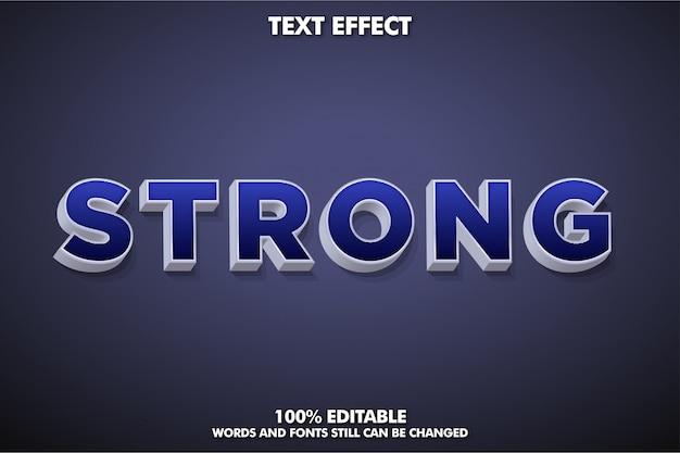 Sterk vetgedrukt 3d-lettertype-effect