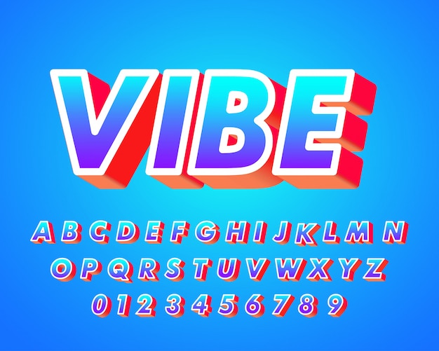 Sterk vetgedrukt 3d-lettertype