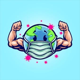 Sterke aarde illustratie