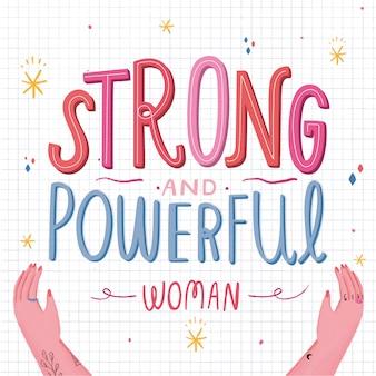 Sterke en krachtige vrouw