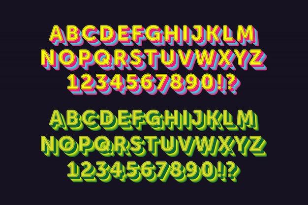 Sterke gewaagde alfabetten met 2 stijlen