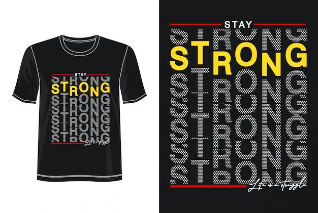 Sterke typografie voor print t-shirt