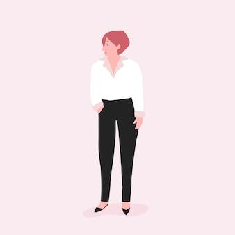 Sterke vrouw volledige lichaam vector