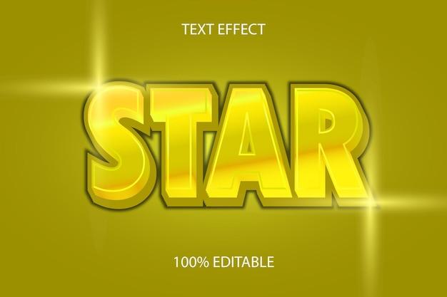 Sterkleur goud bewerkbaar teksteffect gold